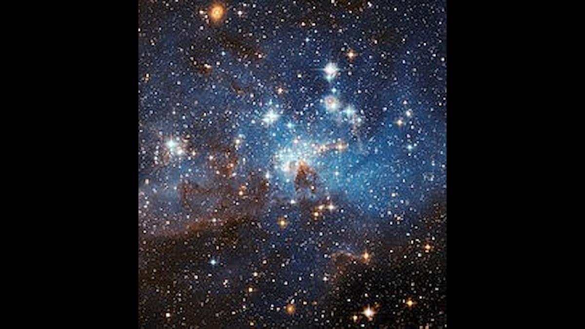 Magellanska molnet, där stjärnor föds, rätt långt bort...
