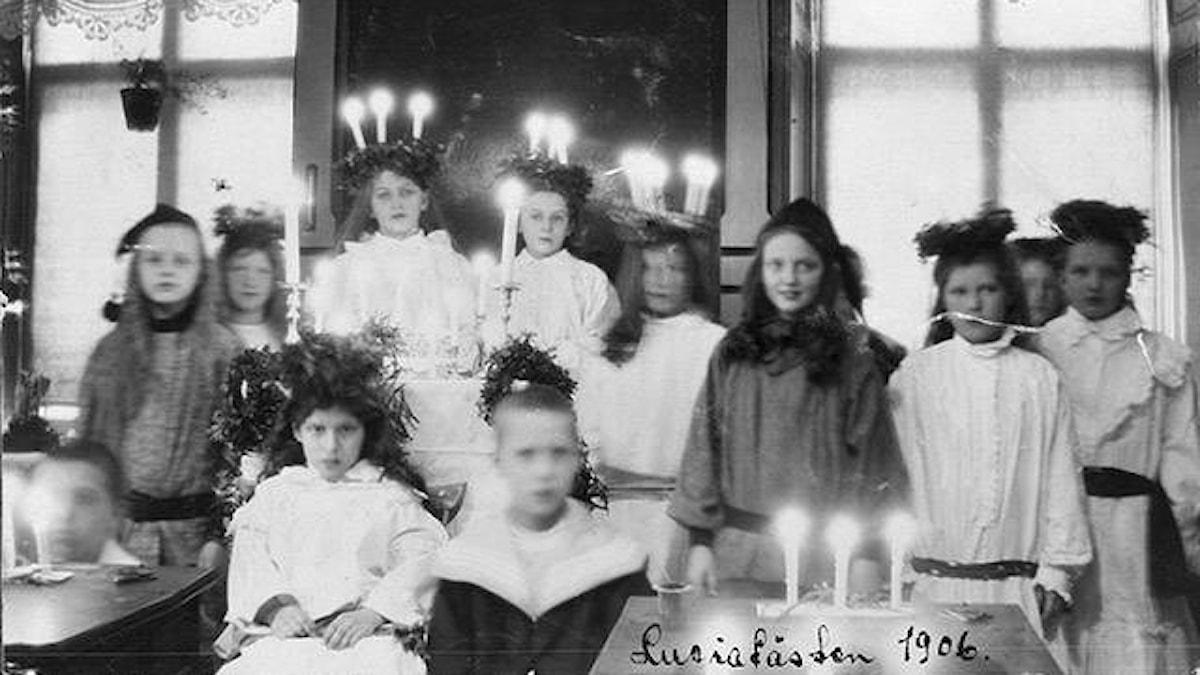 Luciafirande i Götgeborg 1906 Bild: Nordiska museet