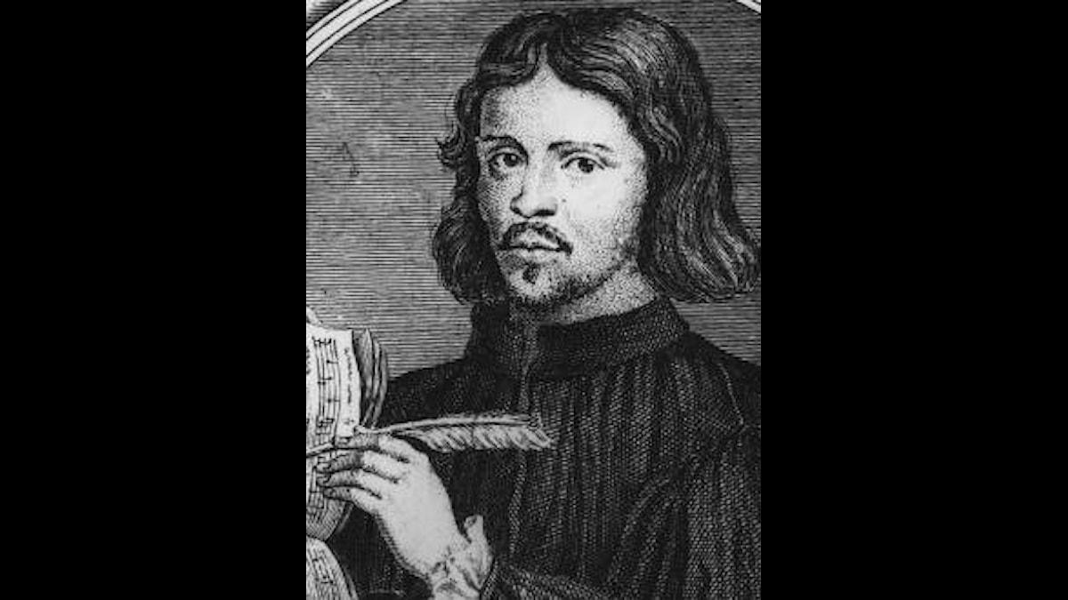 Thomas Tallis skriver på lite musik