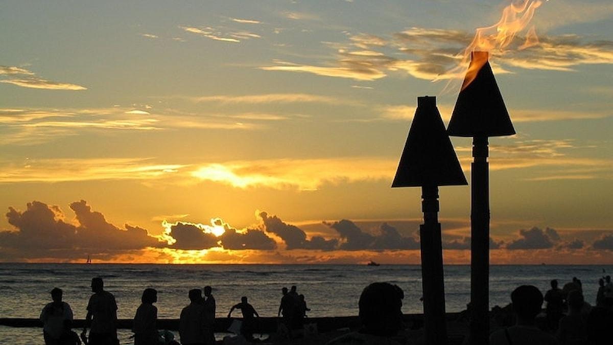 Solnedgång över Hawaii Bild: Hamish2k