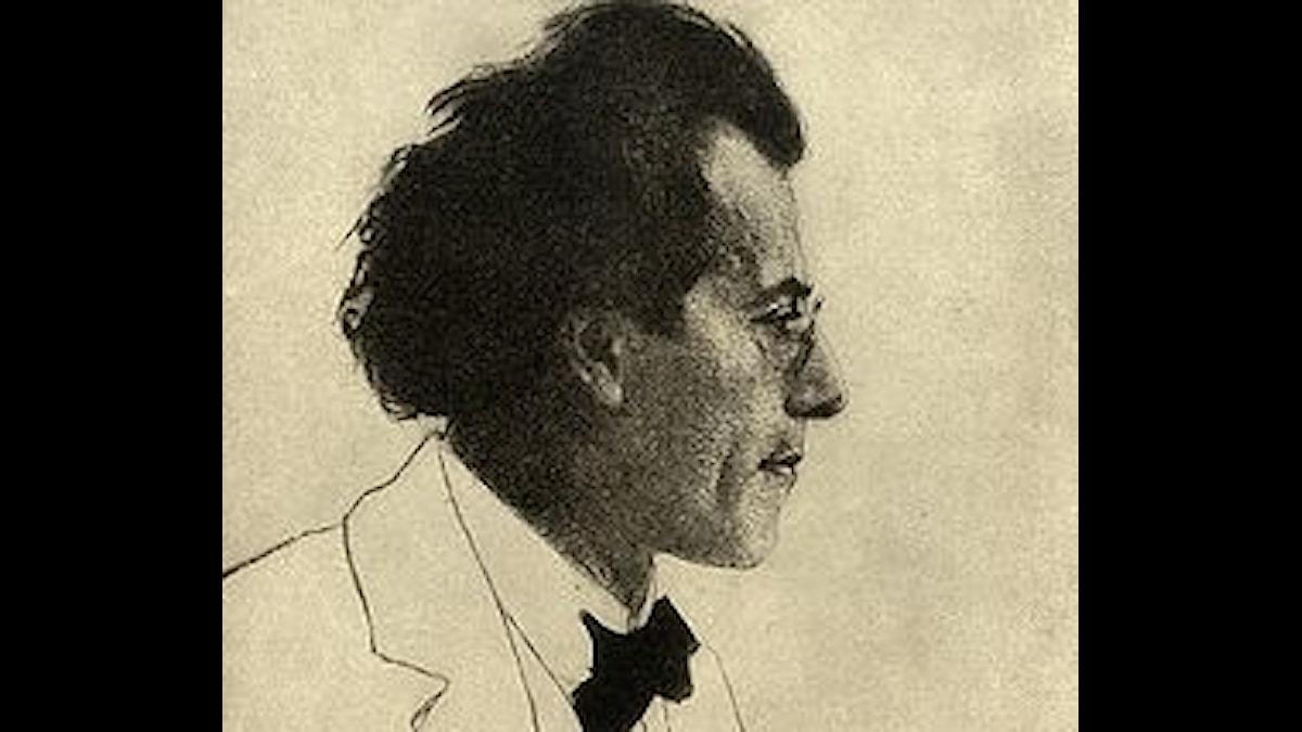 Gustav Mahler tecknad av Emil Orlik 1902