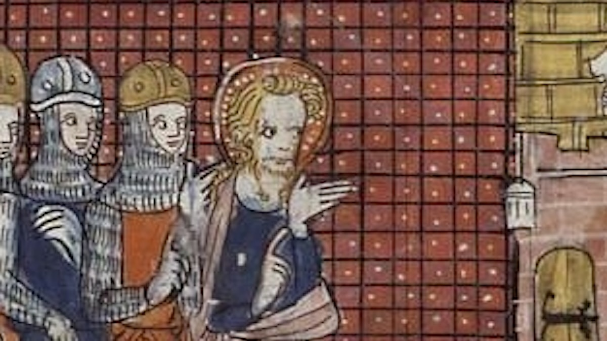 St Valentine, mannen som peker med hela handen