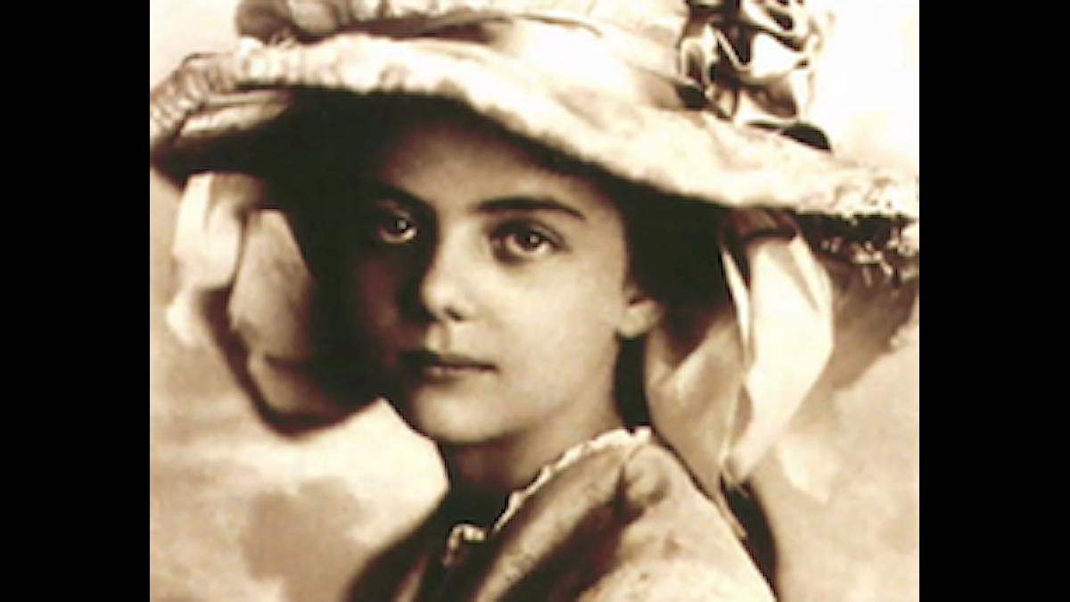 Elinor Remick Warren som ung, redan på väg in i musiken