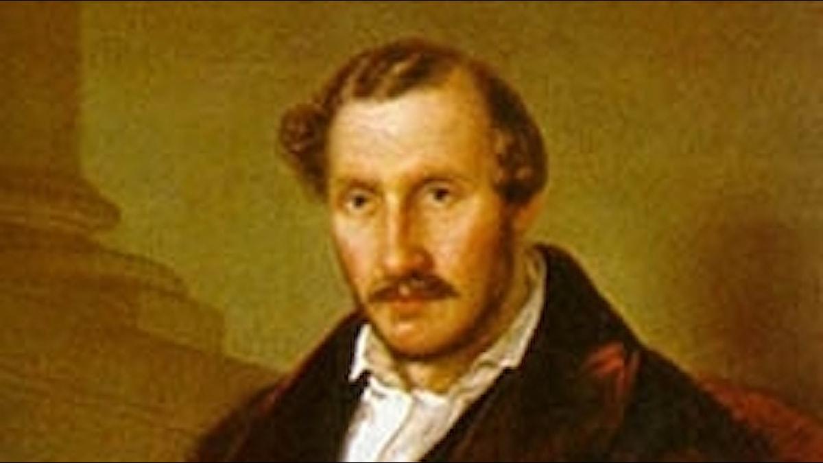 Gaetano Donizetti, porträtt av Giuseppe Rillosi)