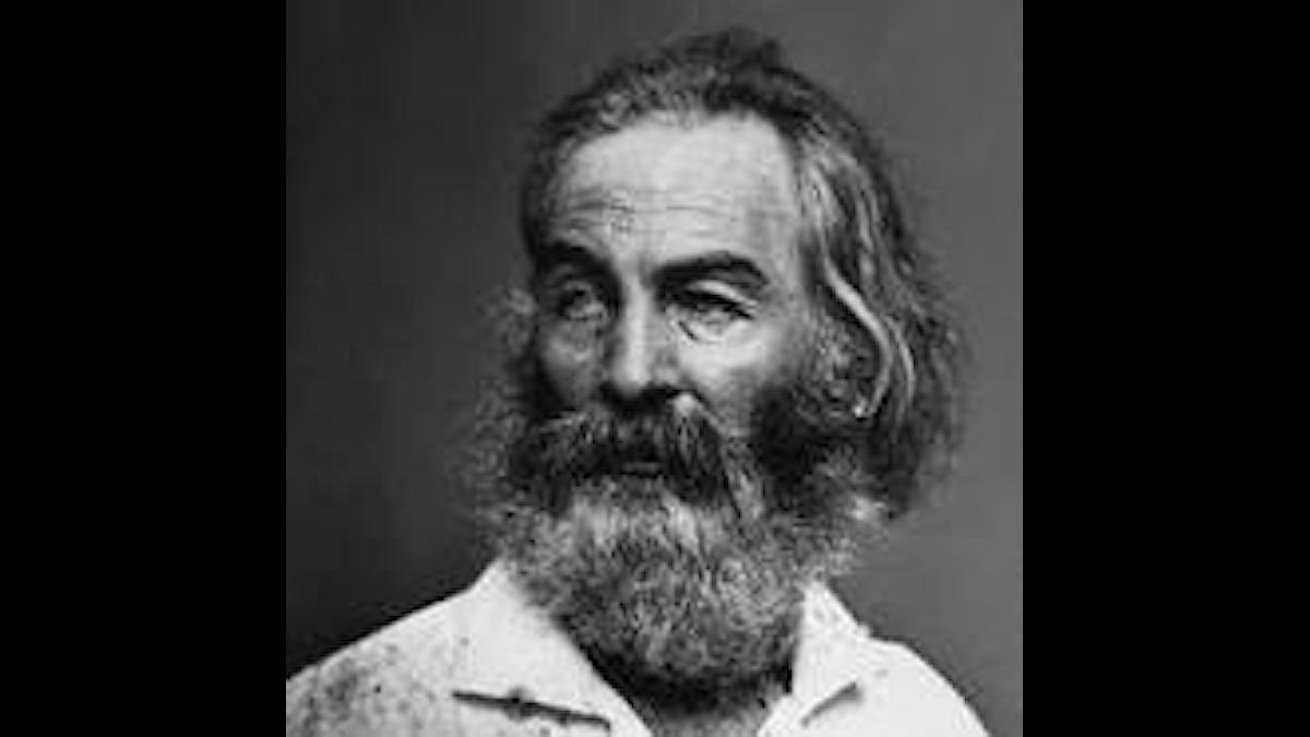 Walt Whitman, duktig på reklam om sej själv...