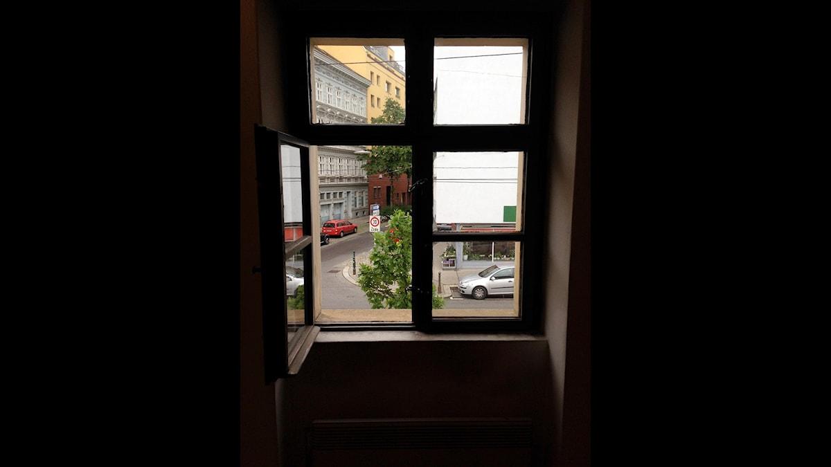 Schuberts utsikt från sitt barndomshus i Wien
