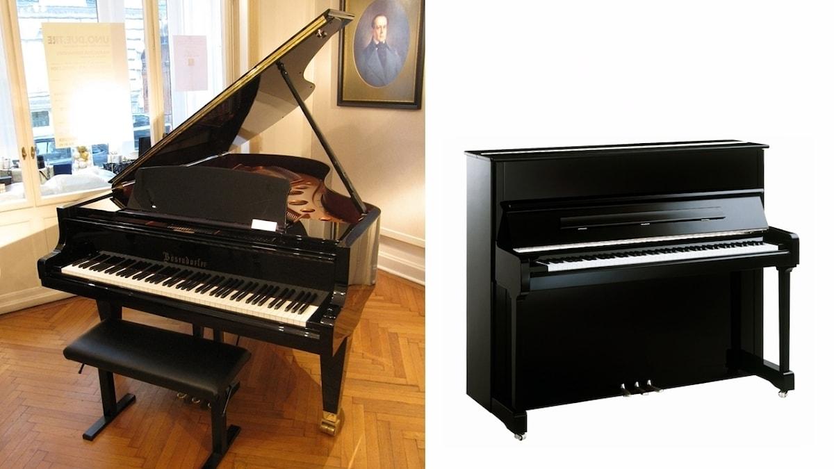 Piano av olika typer