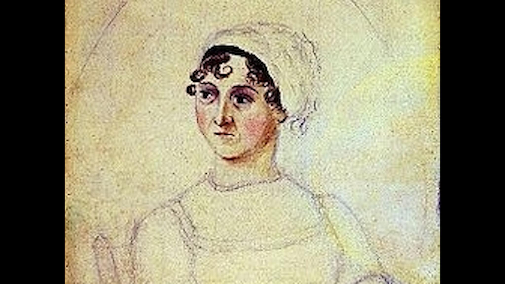 Jane Austen tecknad av syter Cassandra