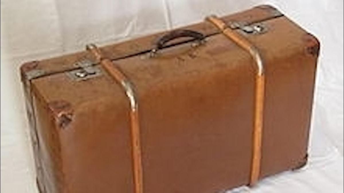 En resväska. Lätt att tappa bort?