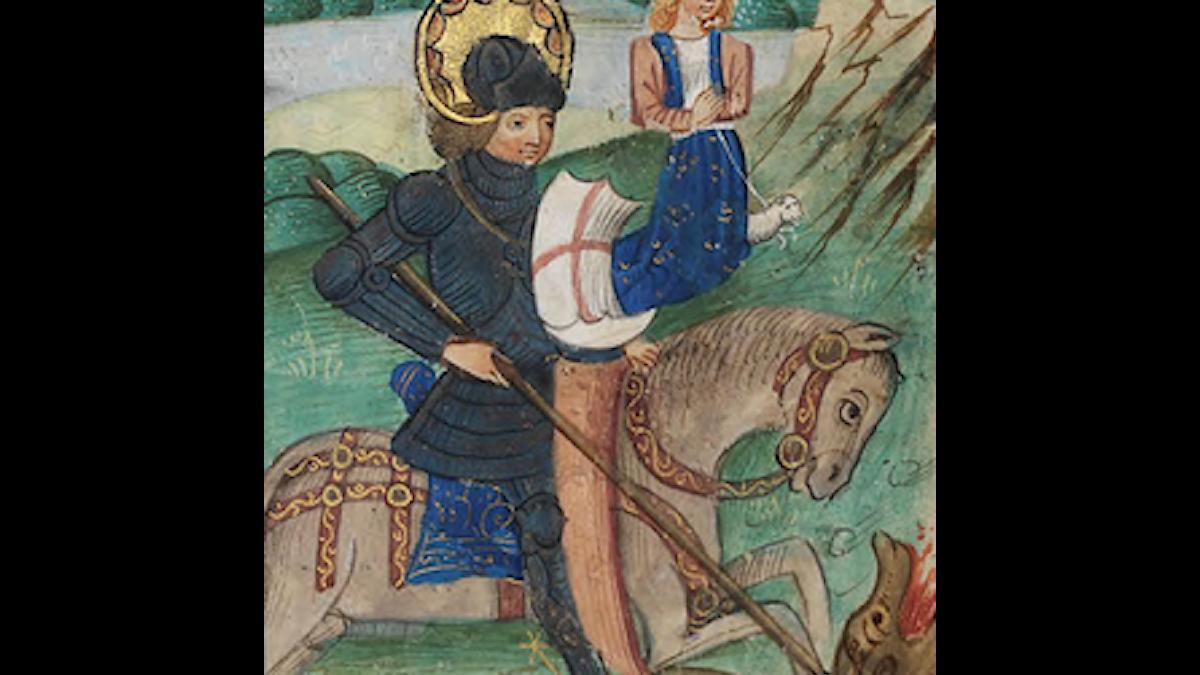 Sankt Göran och draken, som är underst och inte syns...