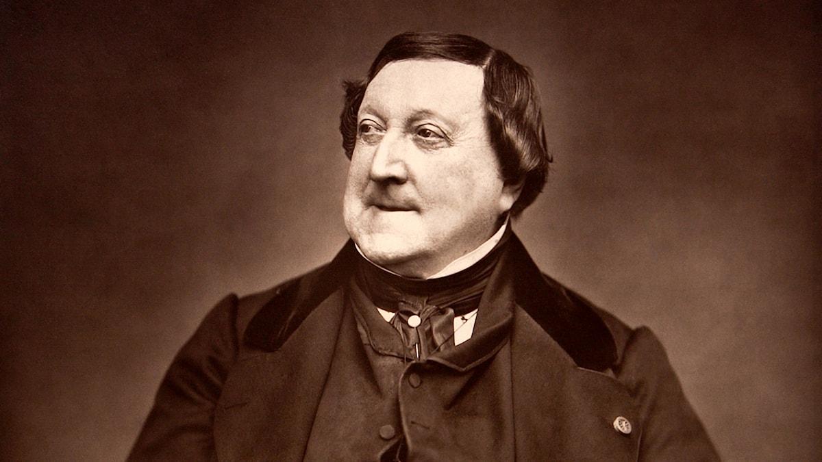 Den italienska tonsättaren Gioachino Antonio Rossini (1792–1868).