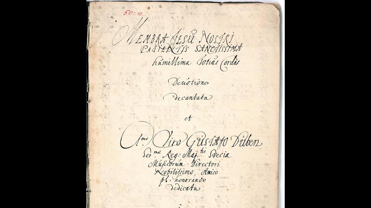 Noterna till Dietrich Buxtehude: Membra Jesu nostri.