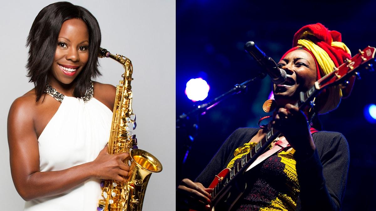 Tia Fuller och Fatoumata Diawara