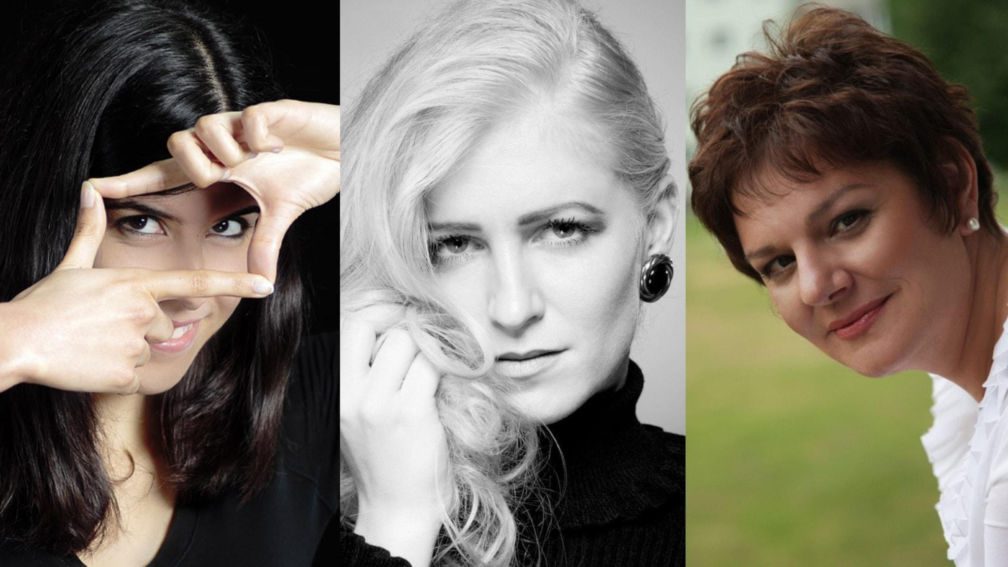 Bild: Tonsättarna Inés Badalo, Sona Vetchá och Galina Grigorjeva.