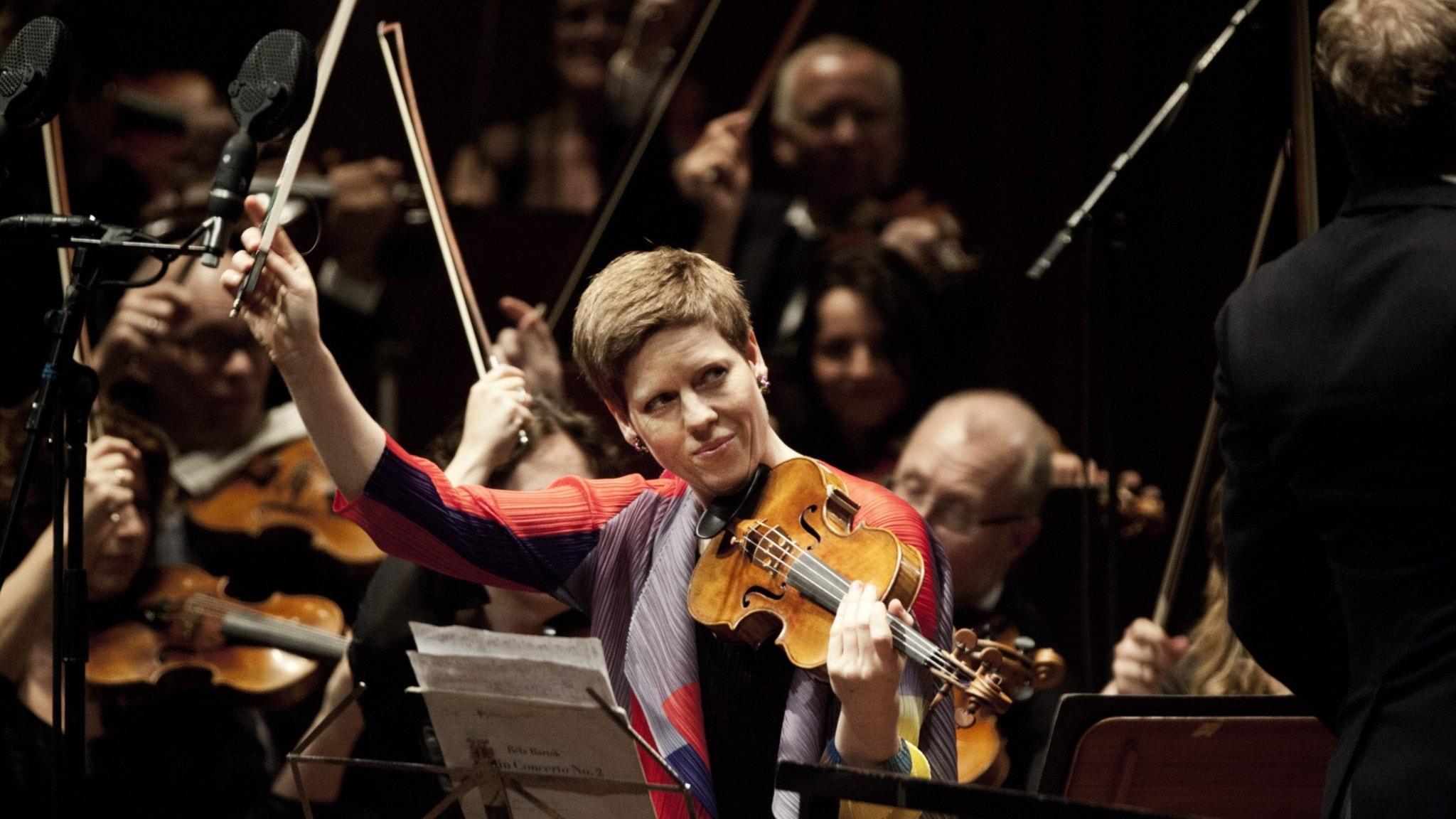 Bild: Violinisten Isabelle Faust.