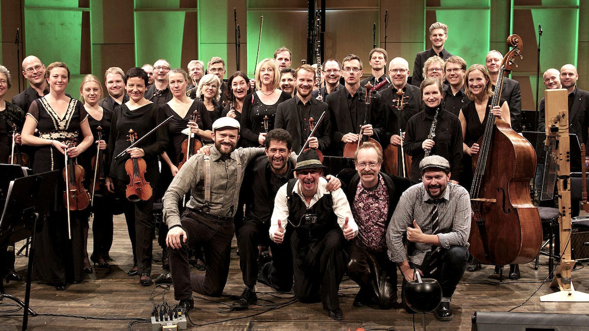 Göran Månsson band och Nordiska kammarorkestern. Foto: Petter Berndalen