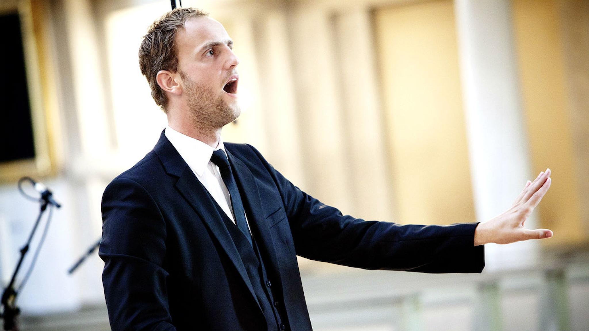 Radiokörens dirigent Peter Dijkstra. Foto: Stina Gullander/Sveriges Radio