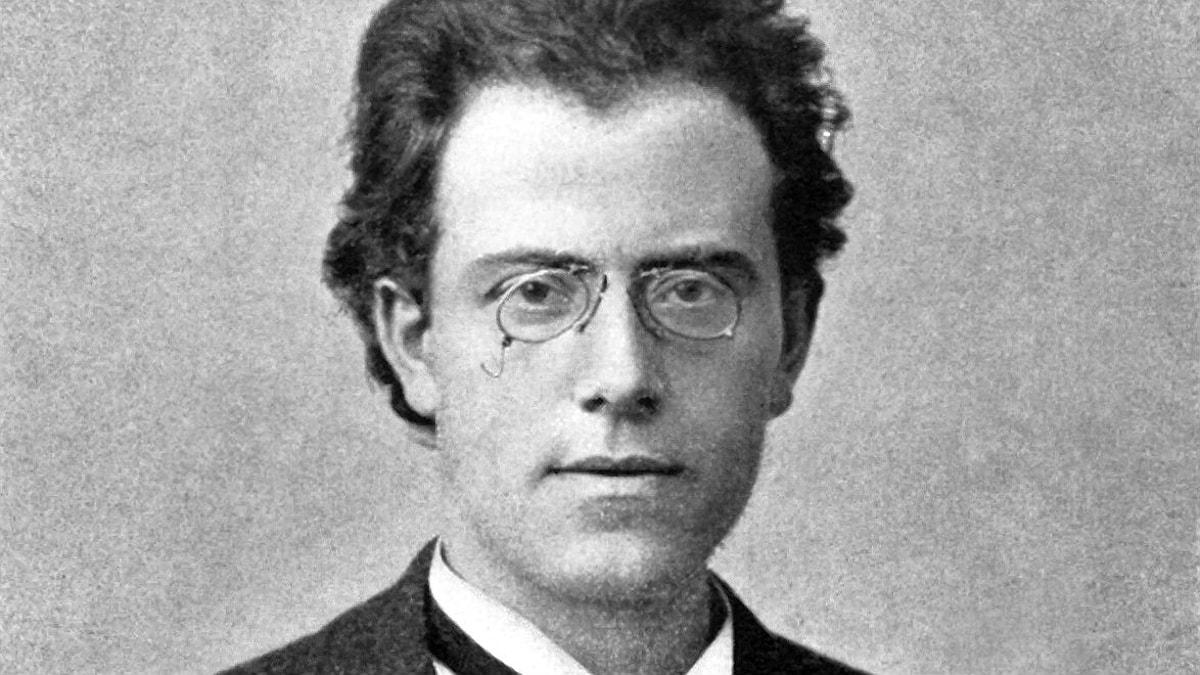 Bild på Gustav Mahler vid tiden då han skrev sin första symfoni.