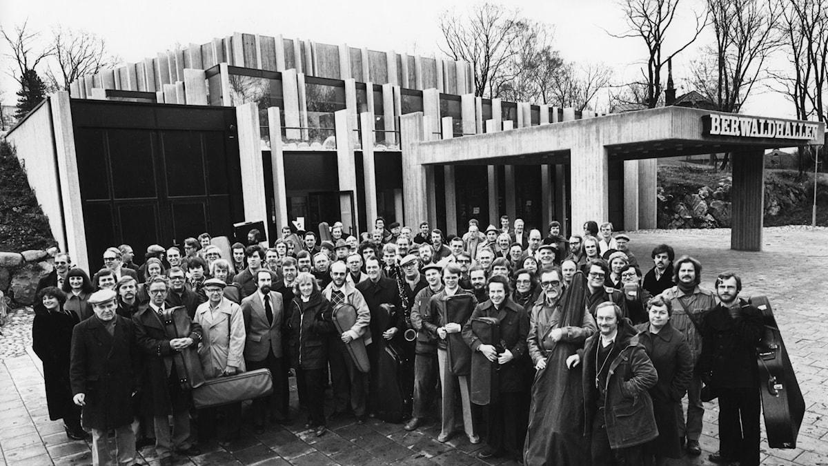 Bild: Invigningen av Berwaldhallen 1979.