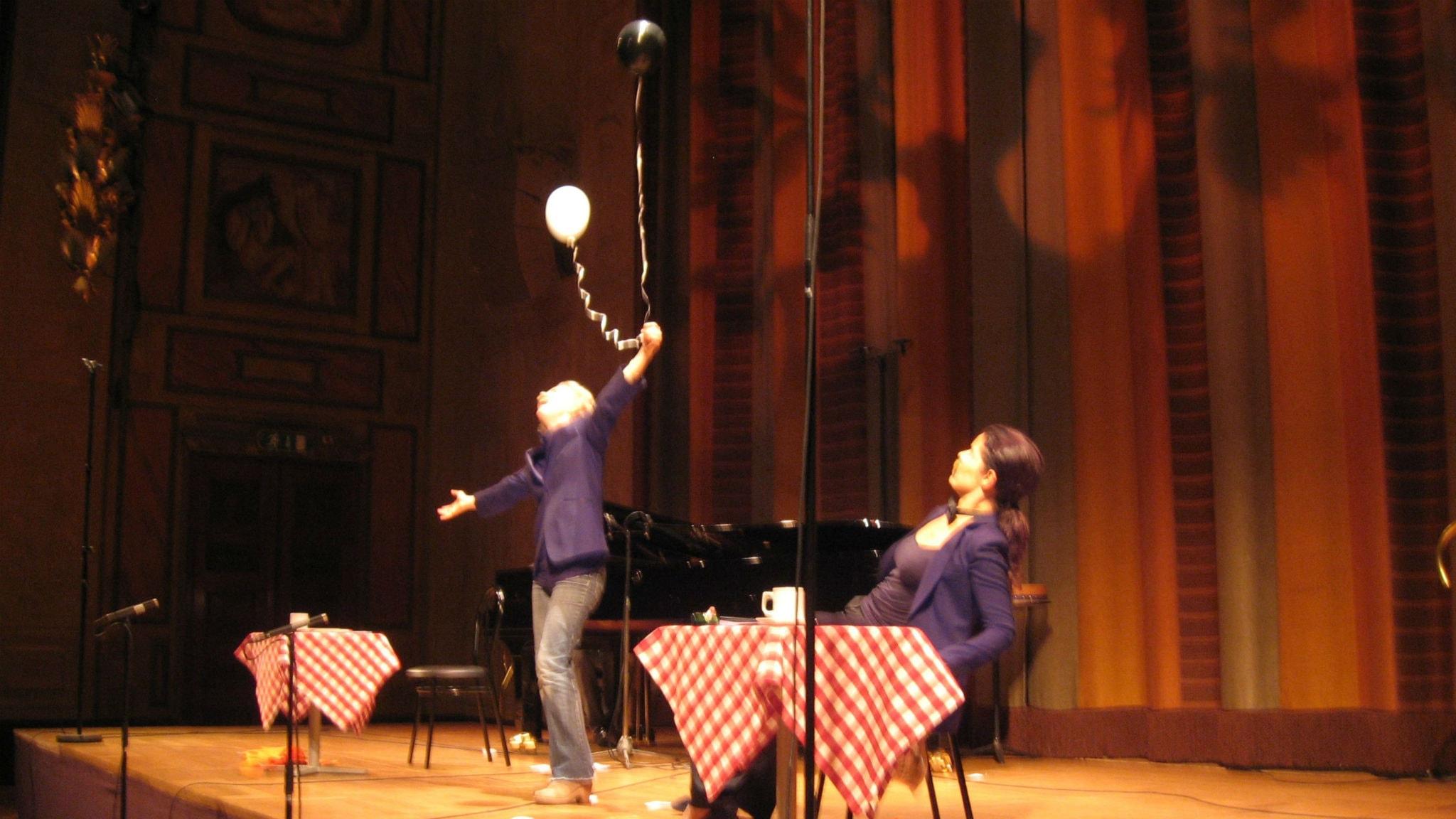 Kerstin Avemo, sopran och Katija Dragojevic, mezzosopran. Foto: Gunilla Saulesco/Sveriges Radio