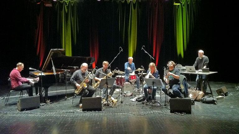 Konvoj Ensemble feat. Evan Parker och Sten Sandell. Foto: Per Lindqvist/Sveriges Radio