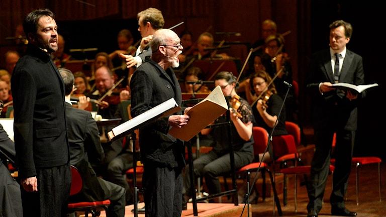 Georg Nigl är solist i Zommermanns Ich wandte mich und sah. Foto: Arne Hyckenberg/Sveriges Radio