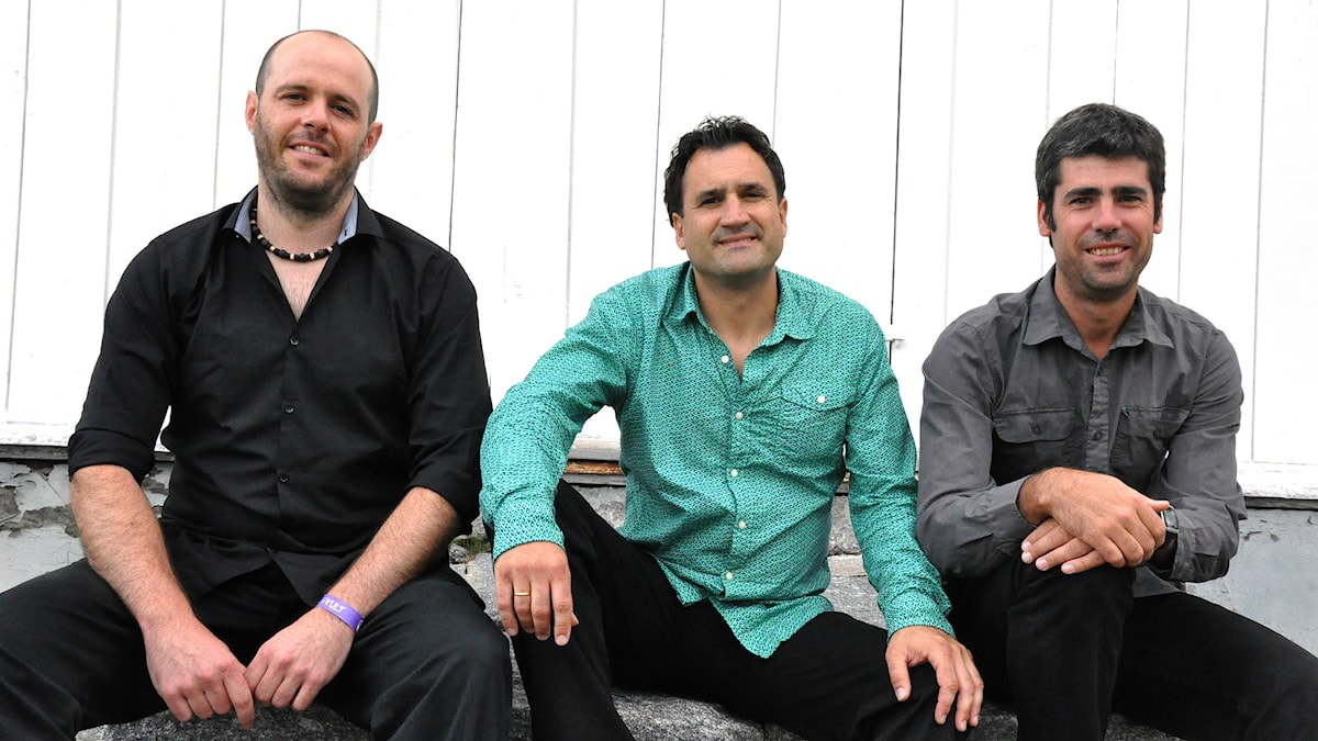 Bandet Mielotxin från Pamplona i norra Spanien. Foto: Mats Einarsson/Sveriges Radio