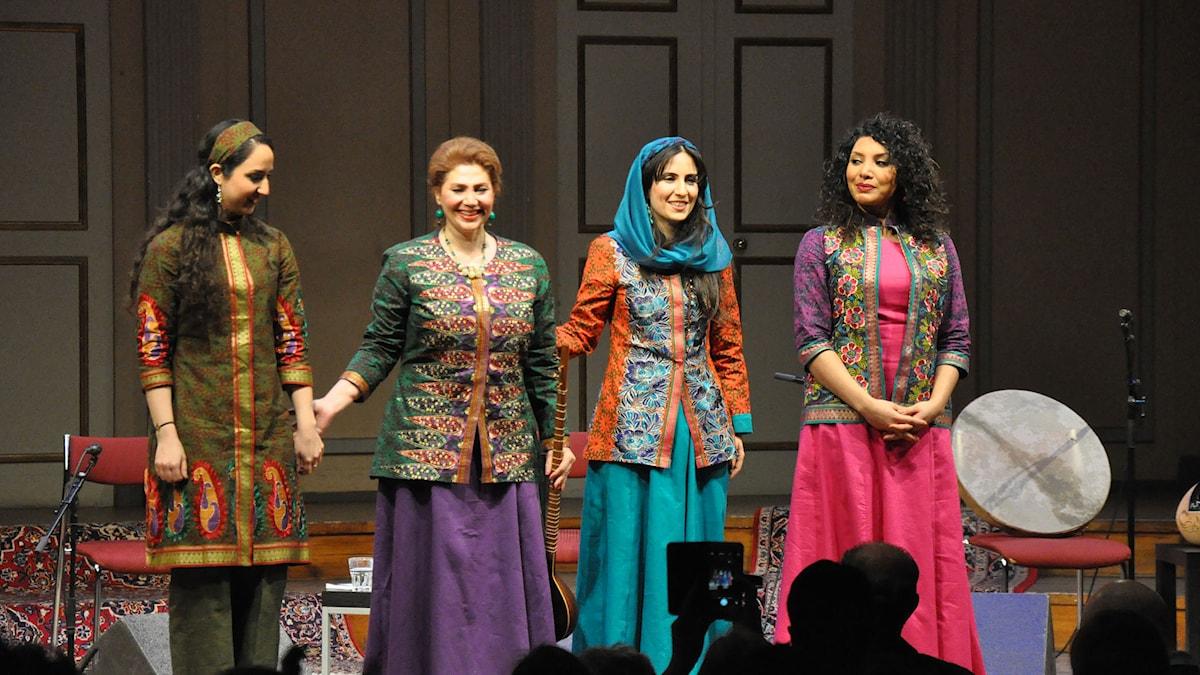 Avaye Doost är Fariba Hedayati, Asareh Shekarchi, Nazanin Pedarsani och Mojgan Abolfathi. Foto: Mats Einarsson/Sveriges Radio