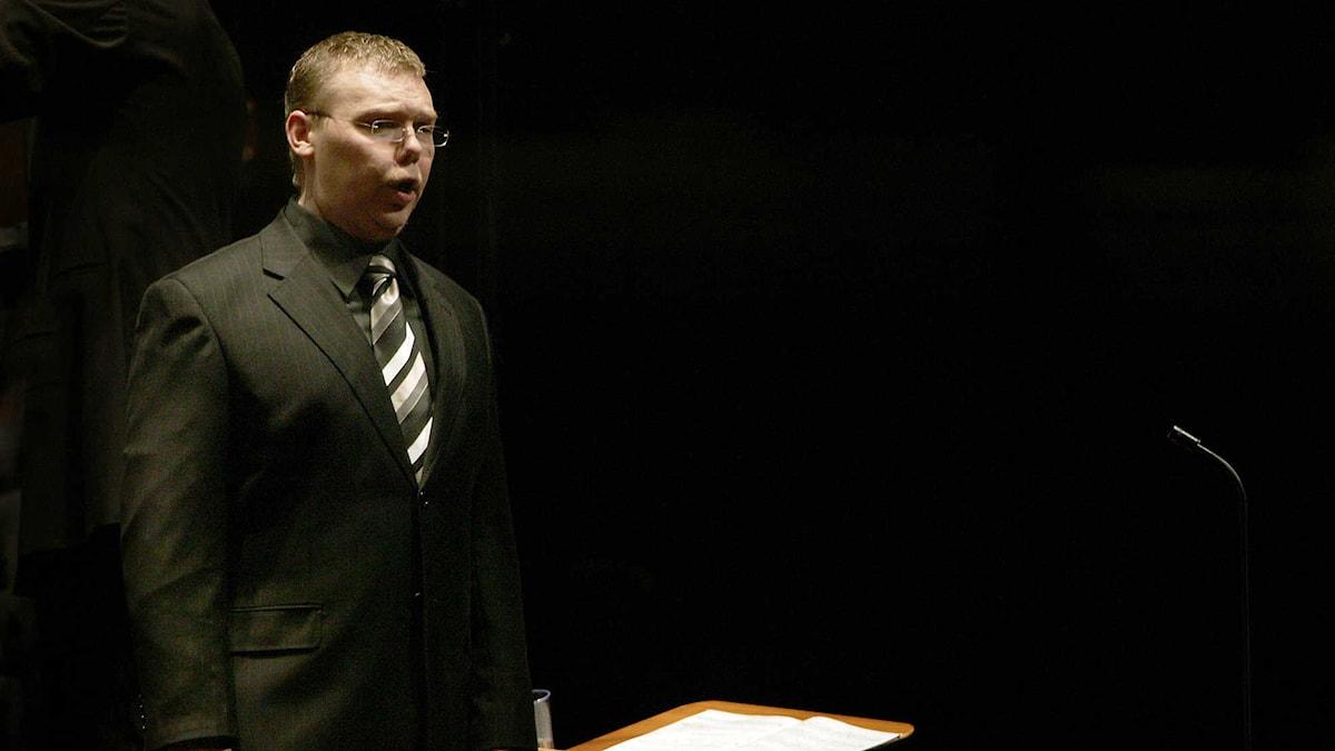Hovsångaren Karl-Magnus Fredriksson. Foto: Mattias Ahlm/Sveriges Radio
