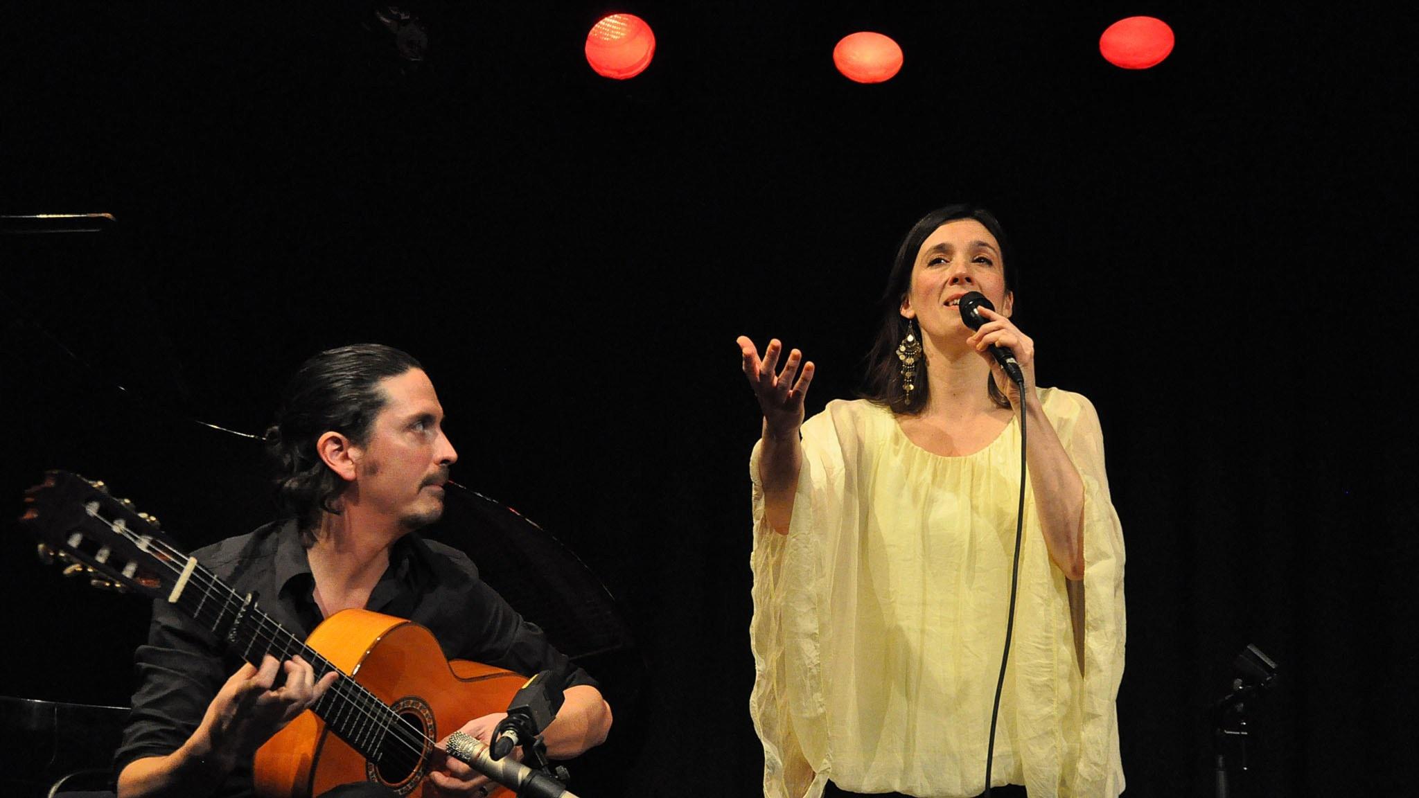 Patrik Bonnet och Sofia Berg-Böhm i samarbetet Sirocco. Foto: Mats Einarsson/Sveriges Radio