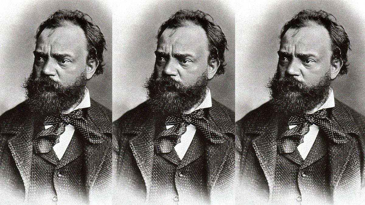 Den tjeckiske tonsättaren Antonín Dvorák. Kollage: Sveriges Radio