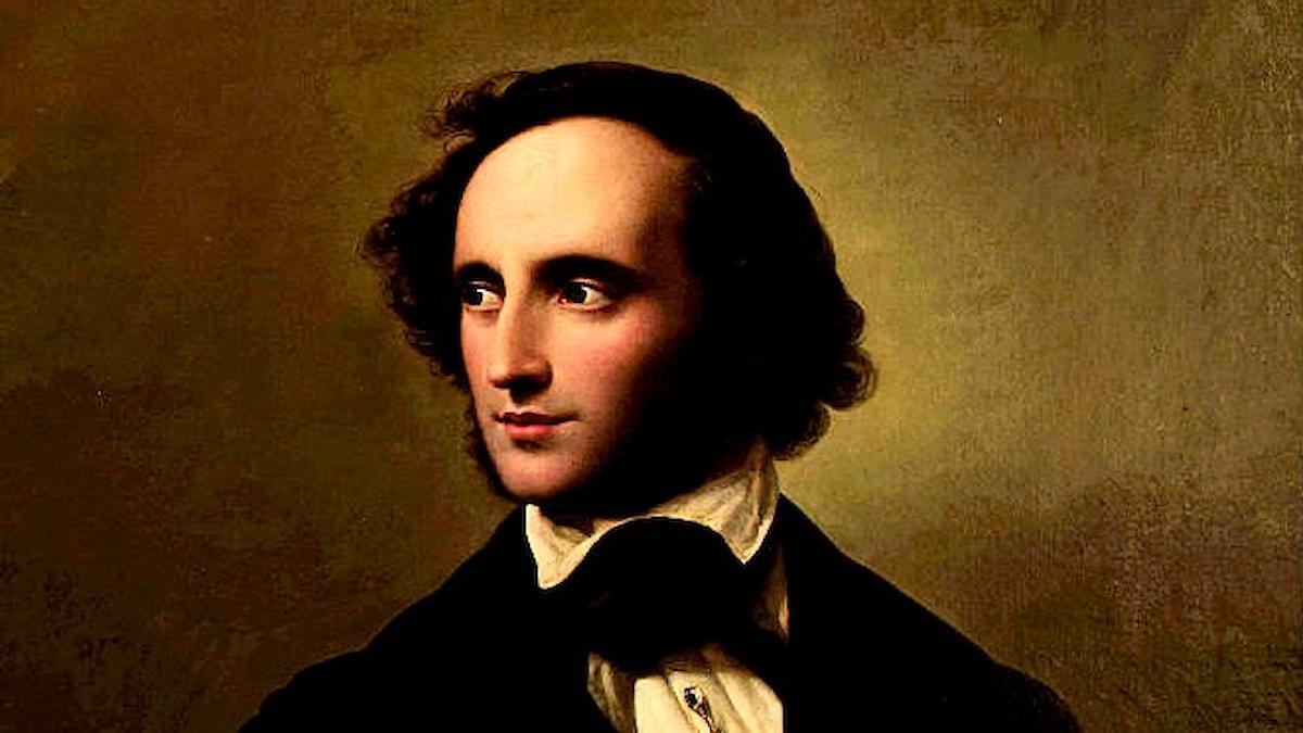 Felix Mendelssohn målad av Wilhelm Hensel 1847.