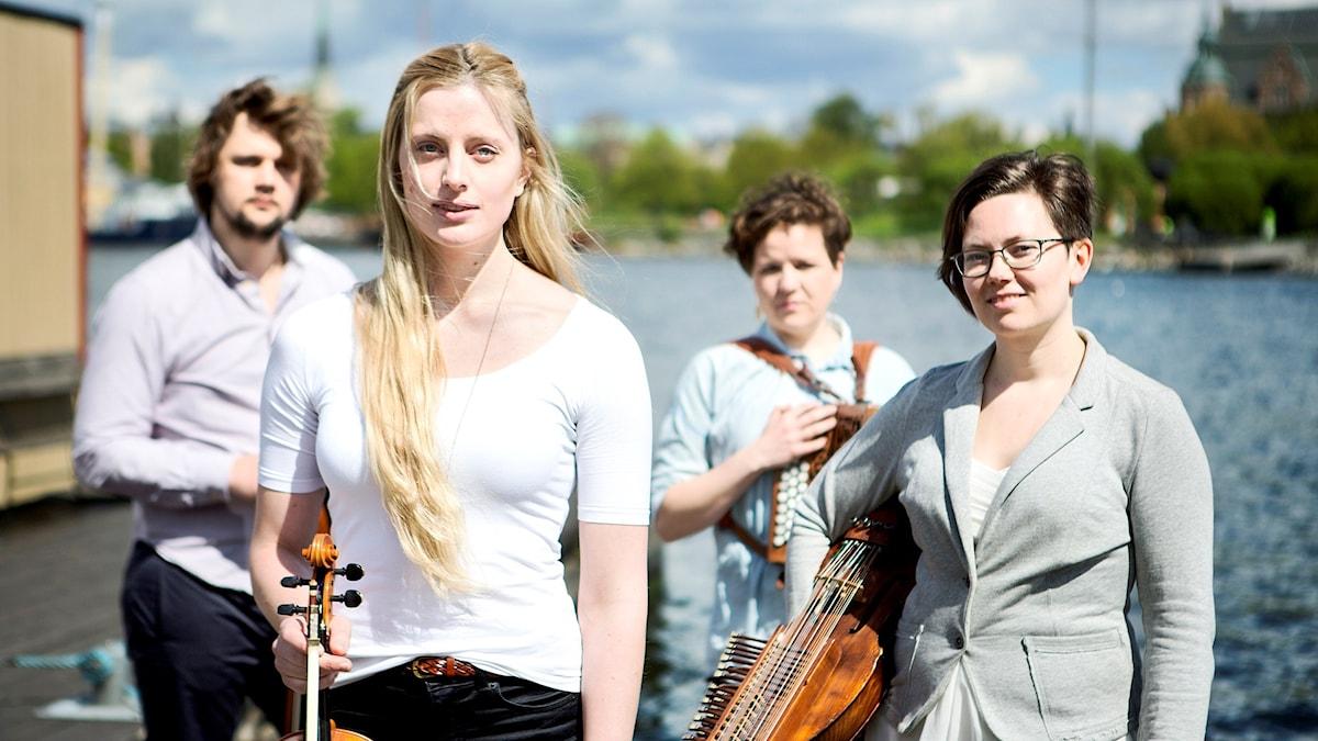 Rim är Elin Jonsson, Jo Einar Jansen, Hilde Fjerdingøy och Sunniva Abelli. Foto: Erik Ersson