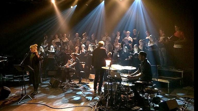 Josefine Lindstrand på Kulturhuset under Stockholm Jazz Festival. Foto: Marie Vesterholm/Sveriges Radio