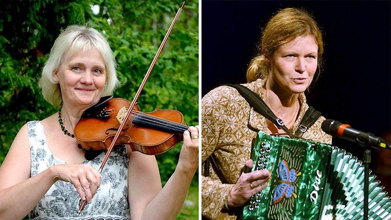 Fiolspelmannen Eva Blomqvist-Bjärnborg och durspelaren Christina Lundqvist.