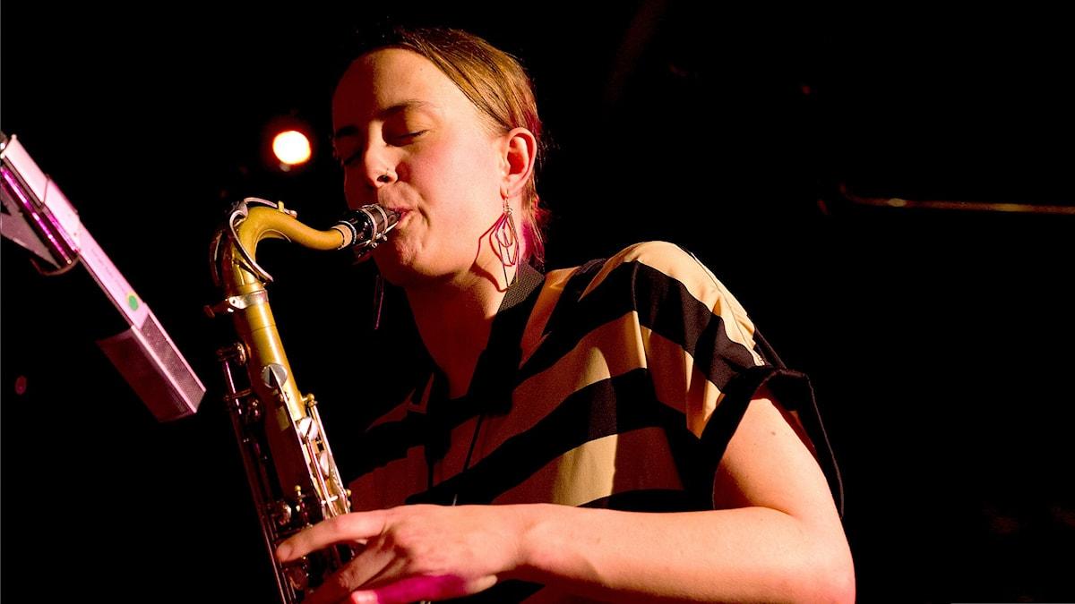 Saxofonisten Malin Wättring.