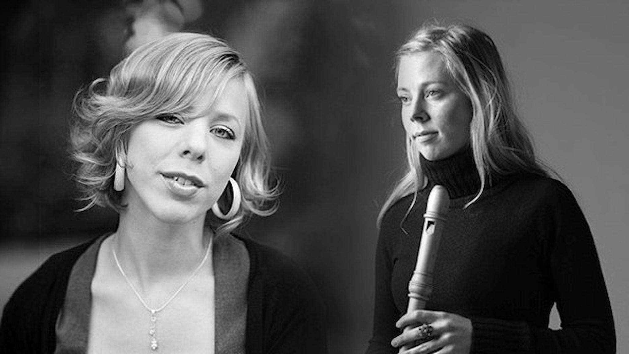 Duon Kondens är organisten Lisa Oscarsson och blockflöjtisten My Eklund.