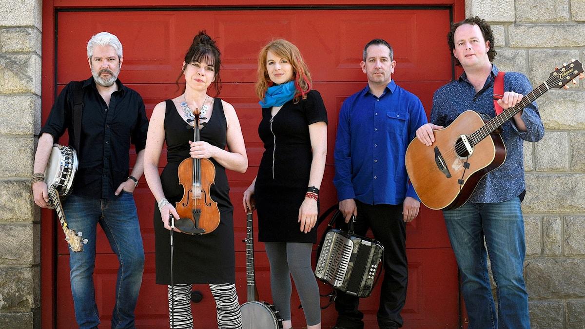 Det amerikanska folkmusikbandet Solas.