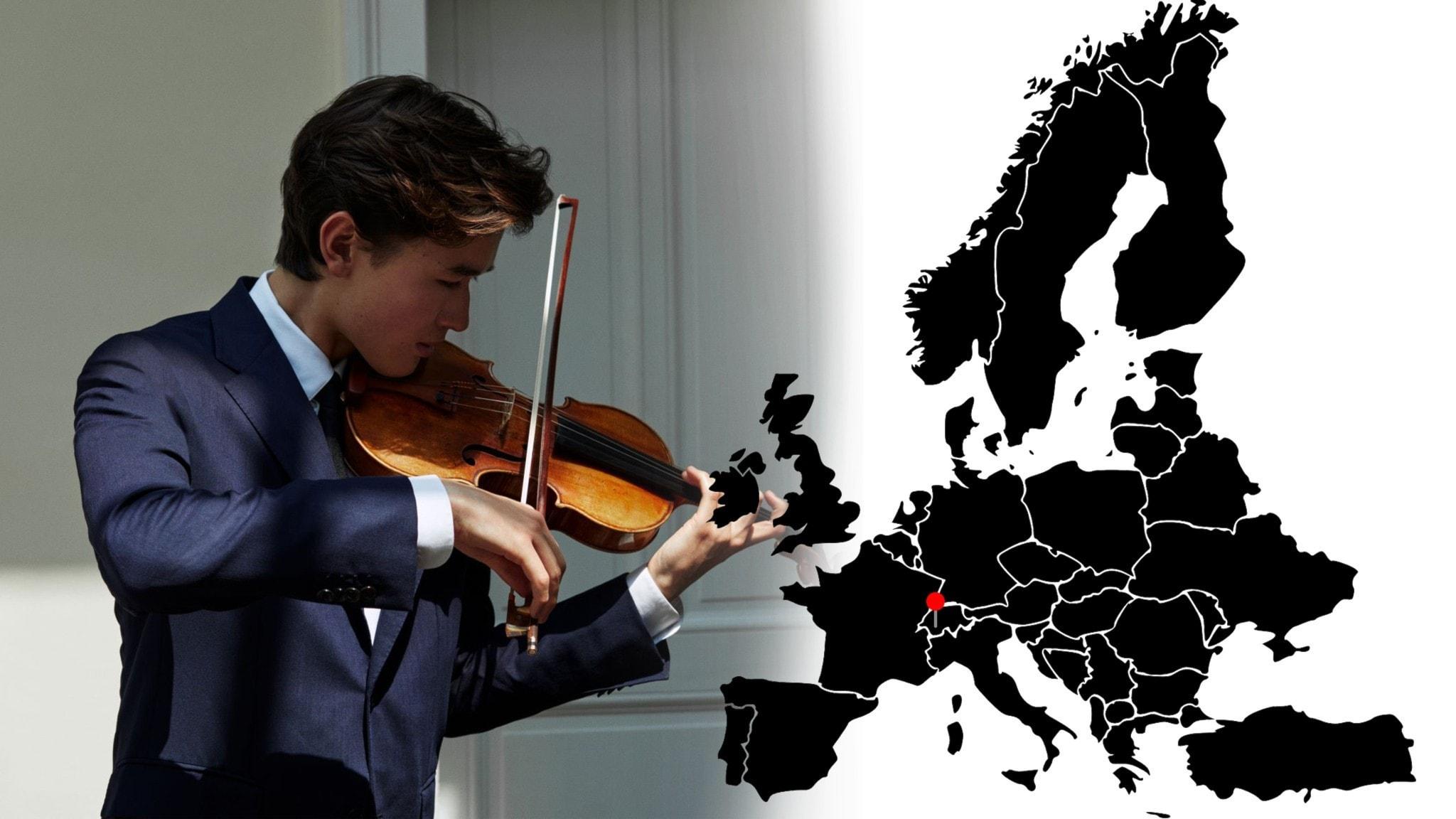Bild: Violinisten Daniel Lozakovitj.