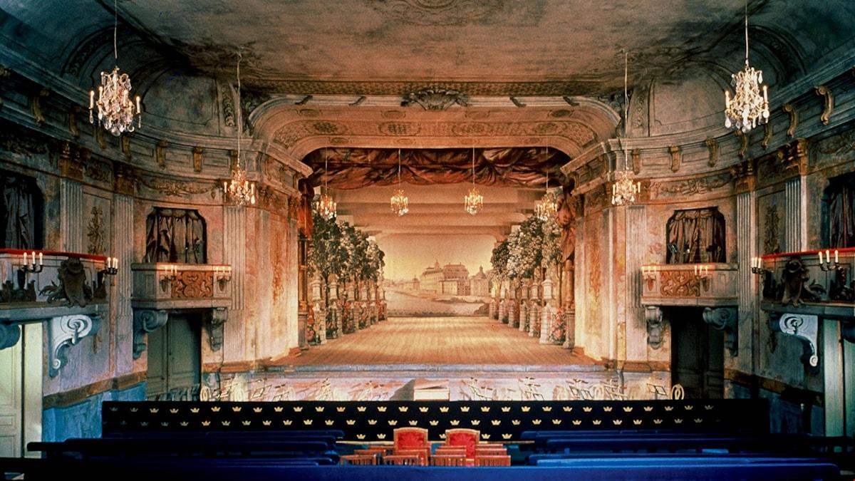 Drottningholms Slottsteaters scen.