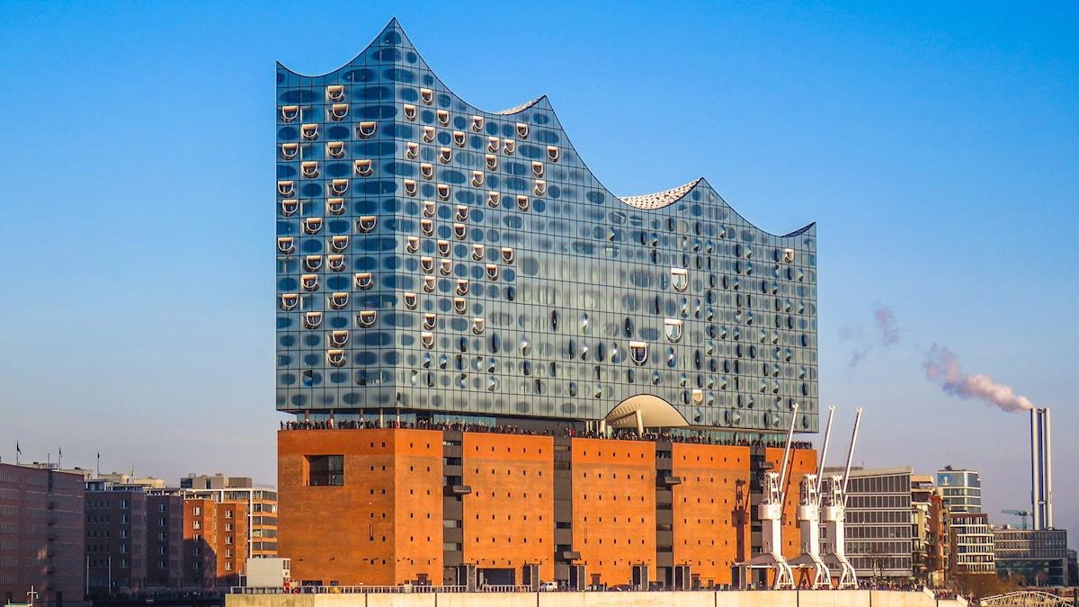 Elbfilharmonins nya konserthus i Hamburg
