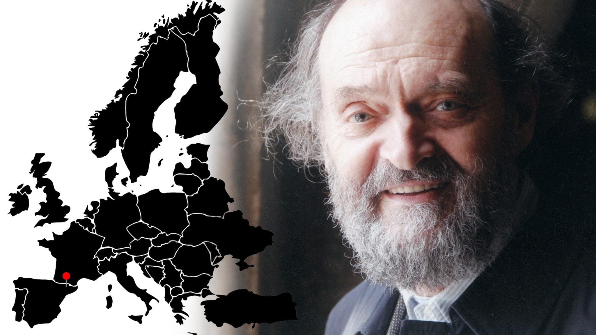 Bild: Europakarta och Arvo Pärt.