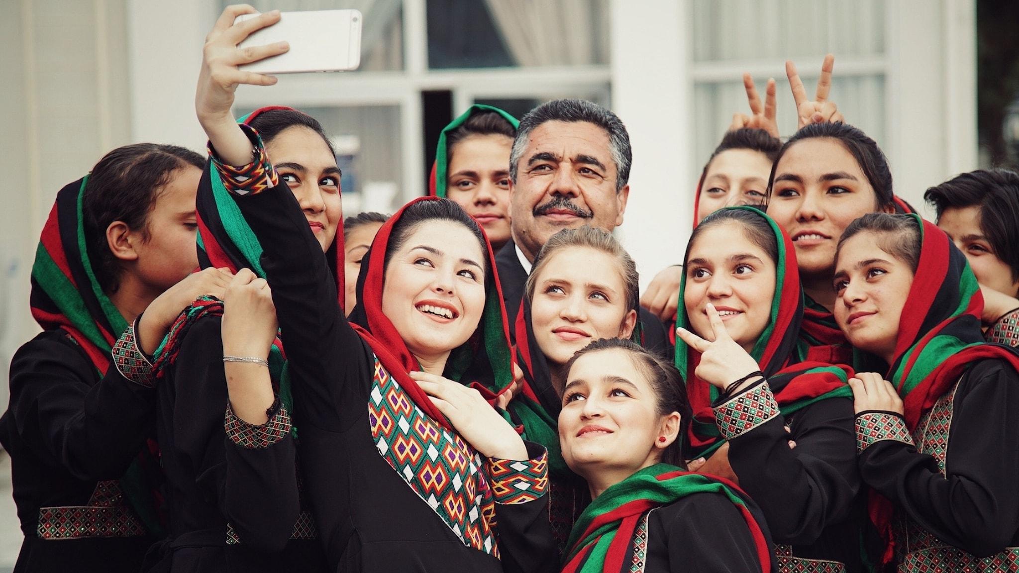 Bild: Kvinnoorkestern Zohra från Afghanistan.