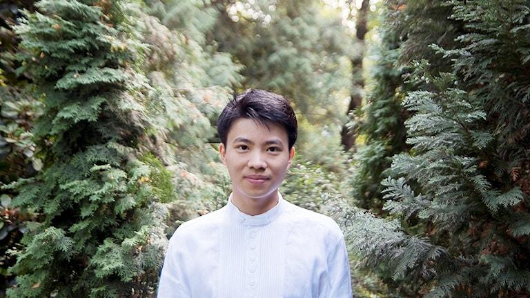 Bild på den unge pianisten Kit Armstrong.