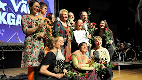 Vinnarna vid 2017 års folk- och världsmusikgala. Foto: Peter Ahlbom.