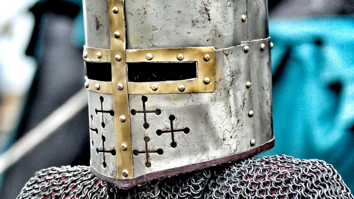 Bild på en medeltida riddare