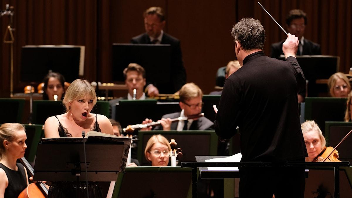 Bild: Sveriges Radios Symfoniorkester, Sophie Bevan och Ryan Wigglesworth.