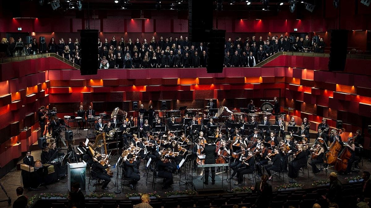 Invigningskonsert på nya Kungliga Musikhögskolan i Stockholm.