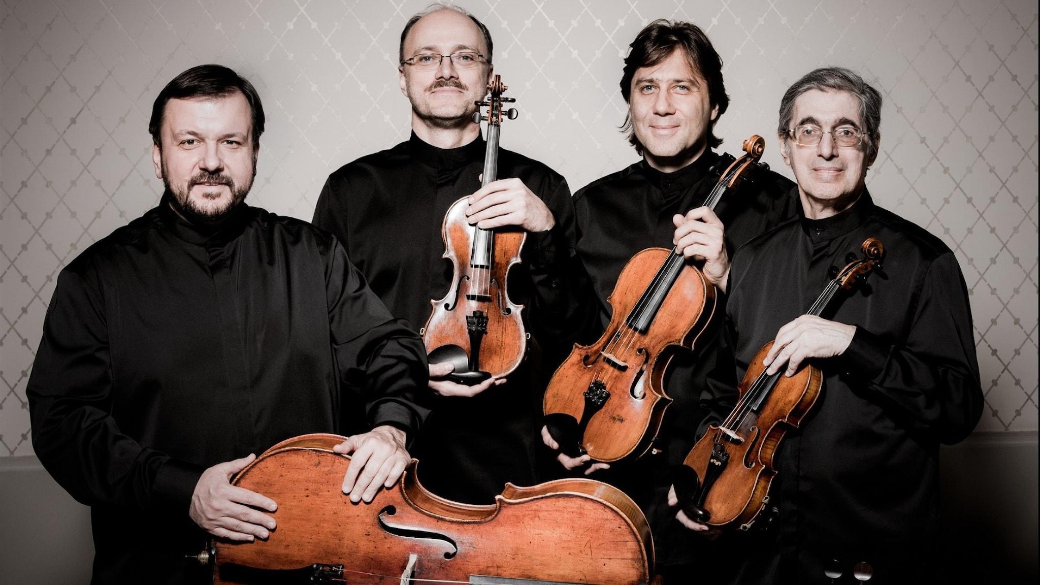 Bild: Borodinkvartetten spelar Beethoven.