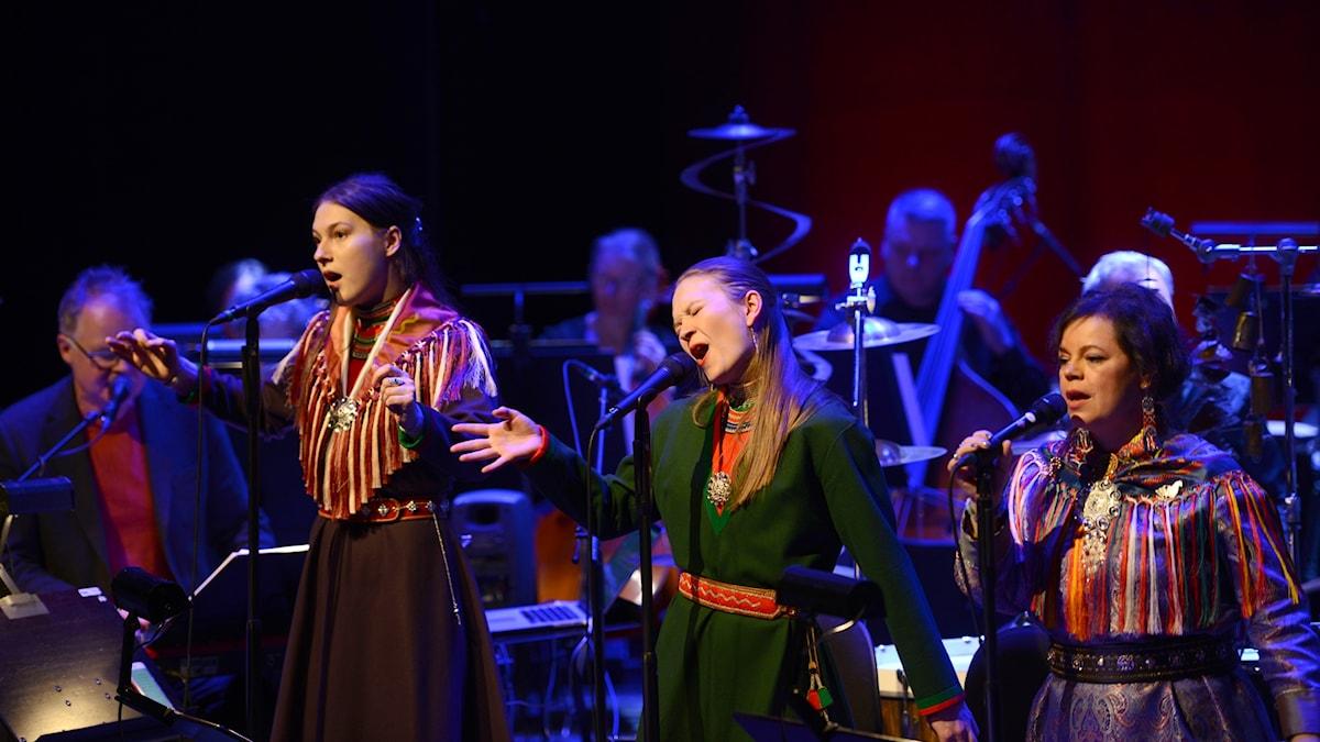 Bild: Frode Fjellheim, Katarina Barruk, Marja Mortensson och Ulla Pirttijärvi.